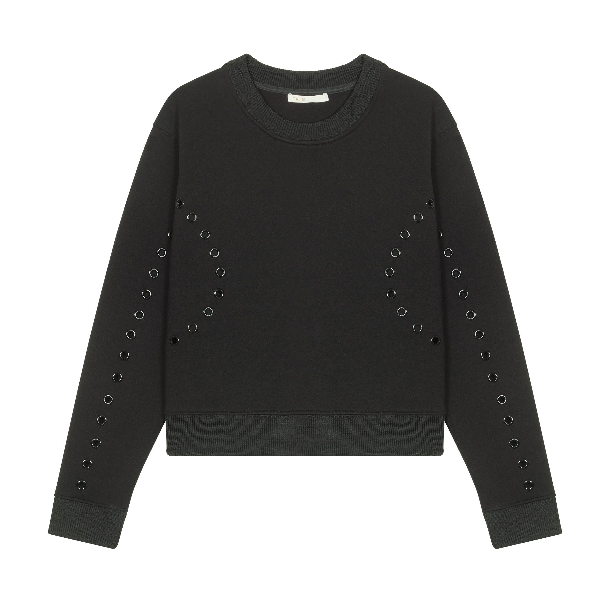 Sweatshirt with eyelets - Knitwear - MAJE